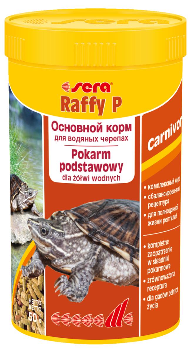 Корм для рептилий Sera Raffy P, 250 мл (50 г)0411Корм для рептилий Sera Raffy P - комплексный корм для водных черепах, ящериц и других плотоядных рептилий. Сбалансированный состав с оптимальным содержанием легко усваиваемых белков и углеводов, а также высококачественных жиров способствует здоровому развитию животных. Эти вкусные палочки содержат все необходимые ингредиенты, а также дополнительное количество кальция.Инструкция по применению: Кормить экономно. Смешать со свежим кормом в соответствии с потребностями животных. Ингредиенты: кукурузный крахмал, пшеничная клейковина, рыбная мука, пшеничная мука, пивные дрожжи, цельный яичный порошок, рыбий жир, гаммарус, зеленые мидии, люцерна, растительное сырье, крапива, петрушка, морские водоросли, паприка, спирулина, шпинат, морковь, чеснок. Аналитический состав: протеин 41,0%, жиры 5,4%, клетчатка 4,5%, влажность 4,0%, зольные вещества 5,4%, кальций 1,0%, фосфор 0,6%.Витамины (на 1 кг): А 30000 МЕ, D3 15000 МЕ, Е 60 мг, В1 30 мг, В2 90 мг, С 550 мг. Товар сертифицирован.