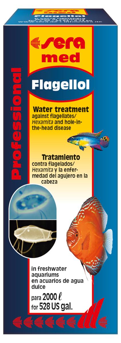 Средство для воды Sera Flagellol, 50 мл0120710Средство для воды Sera Flagellol - специализированное лекарство для декоративных рыб в пресноводных аквариумах против кишечных паразитов (Spironucleus/Hexamita), а также для лечения болезни дыр в голове. В случае белесоватых, слизистых экскрементов у рыб, темных повреждений в области головы, известных как болезнь дыр в голове, рыбы страдают от заражения кишечника жгутиковыми из родов Spironucleus и Hexamita. Новое средство Sera Flagellol эффективно борется с этими опасными патогенными микроорганизмами. Очень хорошо переносится рыбами, безопасно и надежно устраняет не только всех паразитов в кишечнике рыб, но и их инкапсулированные стадии (кисты). Жгутиковые будут надежно уничтожены не ранее чем через 24 часа с момента начала обработки.