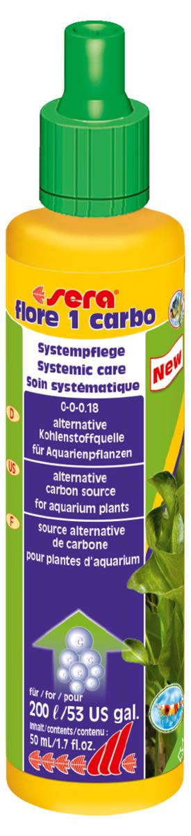 Удобрение для аквариумных растений Sera Flore 1 Carbo, 50 млг-0137Удобрение для аквариумных растений Sera Flore 1 Carbo содержит дополнительный углерод для оптимального роста растений. Предоставляет различные эффективные источники углерода в жидком виде для активного удобрения и является, таким образом, неосложненной альтернативой системе удобрения CO2; однако может и дополнить ее.