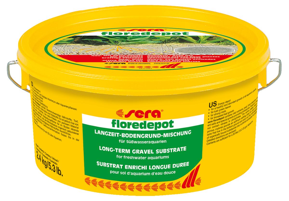 Грунт для аквариумных растений Sera Floredepot, 2,4 кг0120710Питательный грунт длительного использования для водных растений в пресноводных аквариумах. Состоит из чистого промытого песка, специально подготовленного торфа, микроэлементов, питательных солей и других жизненно необходимых веществ. Инструкция по применению: Флоредепот используется при первом запуске аквариума. Грунт необходимо равномерно распределить по дну аквариума в той части, где впоследствии предполагается высадить водные растения. Примерный расчет: упаковка 2,4 кг для аквариумов до 60 л, упаковка 4.7 кг- до 100 л воды.