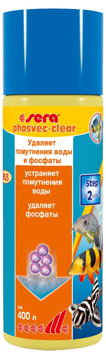 Средство для воды Sera Phosvec-Clear, 100 мл1049Средство для воды Sera Phosvec-Clear обеспечивает чистую, кристально прозрачную воду без фосфатов. Средство устраняет минеральное помутнение воды и удаляет фосфаты - одно из основных питательных веществ для водорослей.Минеральные вещества, так же как и мертвый органический материал (детрит), могут вызывать помутнение аквариумной воды. Это может дополнительно увеличить концентрацию фосфатов в воде и, таким образом, способствовать разрастанию водорослей. Sera Phosvec-Clear немедленно связывает частицы, вызывающие помутнение воды и, таким образом, делает возможным улавливание их фильтром. В то же время он удаляет излишки фосфатов, чем предотвращает разрастание водорослей.