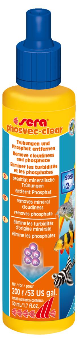 Средство для воды Sera Phosvec-Clear, 50 мл средство для воды sera baktopur direct 24 таблетки