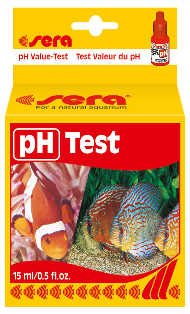 Тест для воды Sera pH-Test, 15 мл1068Тест для воды Sera pH-Test предназначен для простого и точного определения pH-уровня в пресной и морской воде, а также в садовых прудах. Рассчитан на приблизительно 100 измерений.