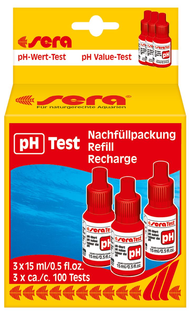 Сменный реагент Sera pH-Test, 15 мл, 3 шт тест sera ph тест для воды 15 мл
