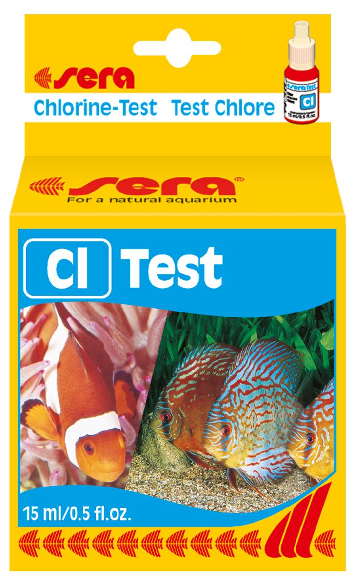 Тест для воды Sera Cl-Test, 15 мл0120710Жидкий тест для воды Sera Cl-Test предназначен для определения содержания хлора в водопроводной воде. Количества реагента достаточно для проведения примерно 45 измерений.