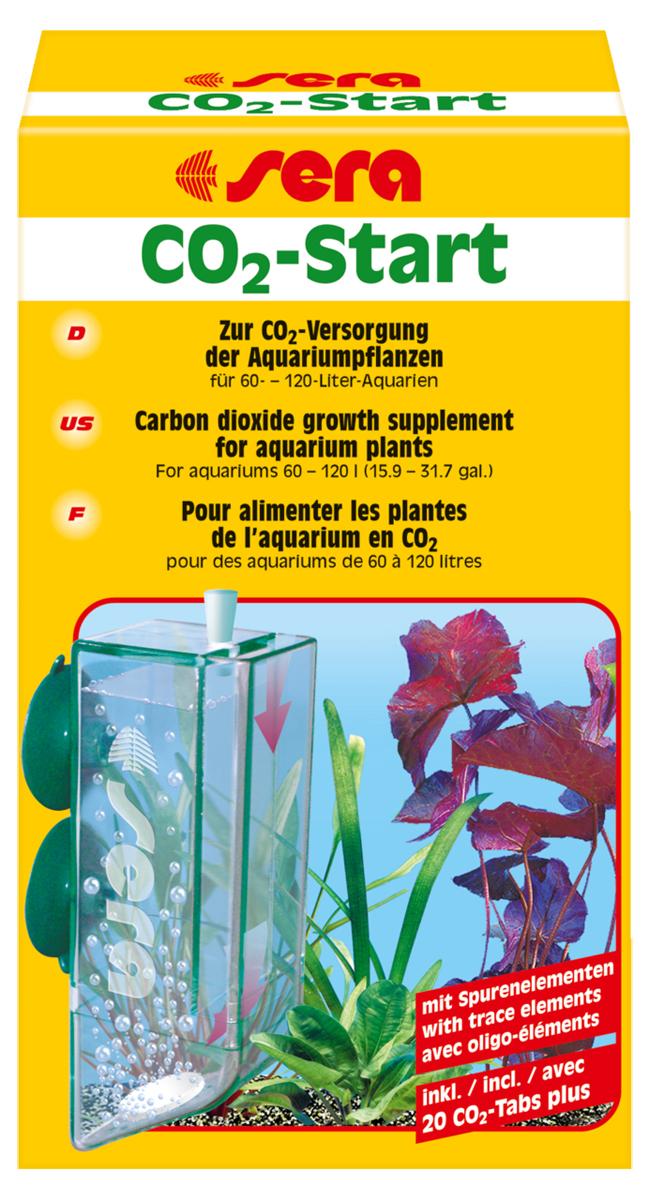 Набор для удобрения воды Sera CO2-StartART-1150107Набор Sera CO2-Start состоит из диффузионного реактора и набора таблеток, из которых выделяется углекислый газ и полезные микроэлементы. Корпус реактора выполнен из специального пластика, сквозь который молекулы углекислого газа постепенно попадают в аквариумную воду. Выделившийся из таблеток углекислый газ полностью растворяется в воде и не может улетучиться в атмосферу. Данный набор можно использовать в аквариумах до 120 литров. Для аквариумов больших размеров следует использовать Sera систему удобрения CO2.