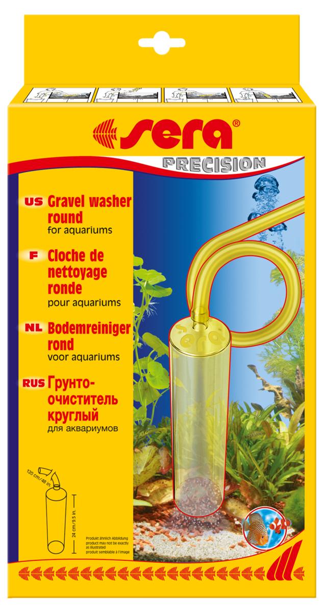 Грунтоочиститель Sera Gravel Washer, круглый0120710Для существования здоровой флоры и фауны в аквариуме необходима регулярная подмена воды. Грунтоочиститель способен очень тщательно очищать грунт от отходов, прост в употреблении. Благодаря своему большому диаметру позволяет удалять только отходы, оставляя даже мелкий гравий в аквариуме, в то же время помогает частично заменять и очищать воду. Благодаря своему шлангу длиной 1,25 м, позволяет беспрепятственно добраться до любого самого удаленного уголка аквариума. Имеет непроницаемый корпус.