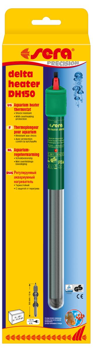 Нагреватель для аквариума Sera Delta Heater, 150 Вт аквариумный нагреватель sera precision 100 вт