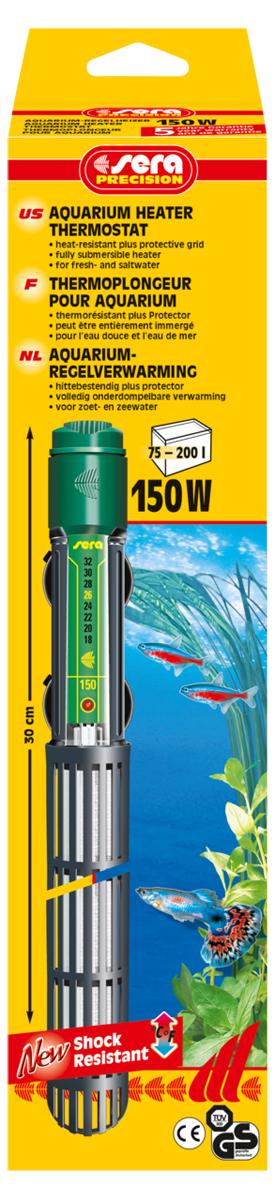 Нагреватель для аквариума Sera Precision, 150 Вт0120710Высококачественный нагреватель для аквариума Sera Precision оборудован термостатом, надежной схемой защиты и защитной сеткой, снабжен корпусом из ударопрочного кварцевого стекла. Регулируемый аквариумный нагреватель очень короткий и легко устанавливается в небольшие аквариумы. Режим работы обогревателя вкл/выкл отображается с помощью небольшой лампы. Объем аквариума: 75-200 л. Длина нагревателя: 30 см.