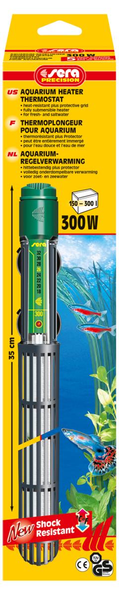 Нагреватель для аквариума Sera Precision, 300 Вт0120710Высококачественный нагреватель для аквариума Sera Precision оборудован термостатом, надежной схемой защиты и защитной сеткой, снабжен корпусом из ударопрочного кварцевого стекла. Регулируемый аквариумный нагреватель очень короткий и легко устанавливается в небольшие аквариумы. Режим работы обогревателя вкл/выкл отображается с помощью небольшой лампы. Объем аквариума: 150-300 л. Длина нагревателя: 35 см.