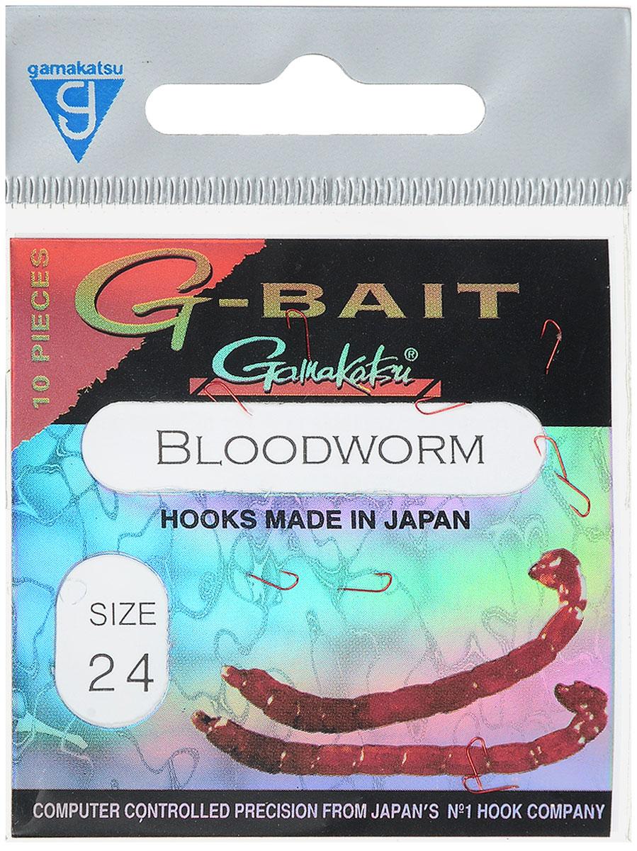 Крючок рыболовный Gamakatsu G-Bait. Bloodworm, №24, 10 шт1045773Крючок Gamakatsu G-Bait. Bloodworm - это крючок с лопаткой, удлиненным цевьем и острым изгибом. Выполненные из высококачественной стали, крючки на 20% надежнее и мощнее по сравнению с большинством аналогов. Такой крючок идеален для мотыля.Размер крючка: №24. Вид крепления: лопатка.Количество штук в упаковке: 10 штук.