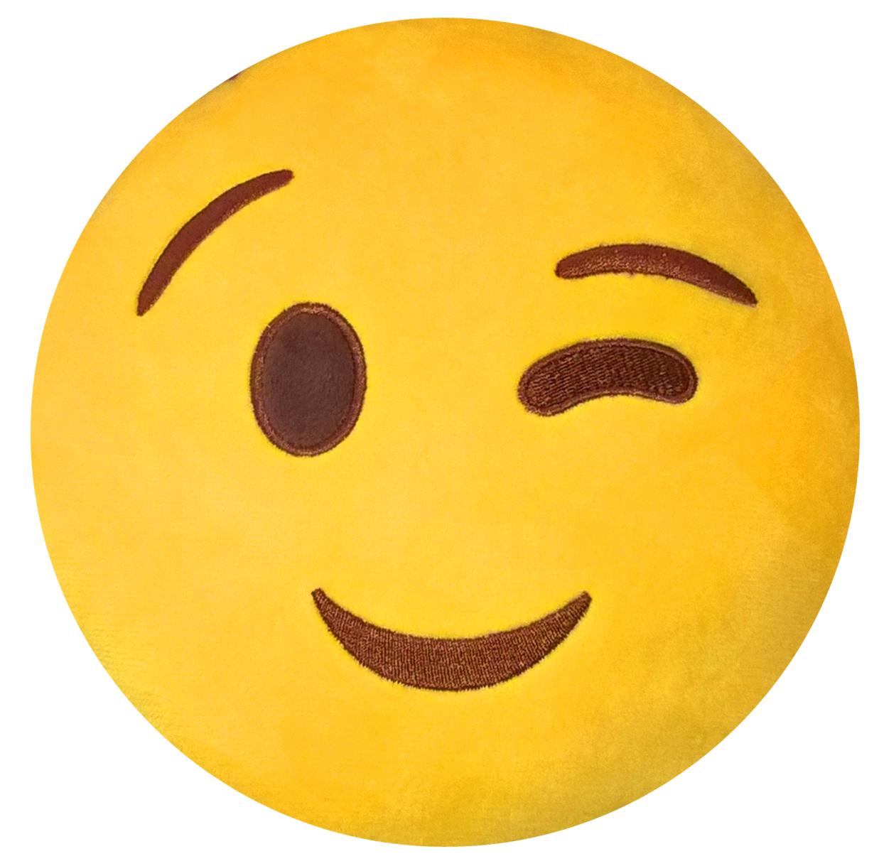 Подушка на подголовник Rexxon Подмигивание, цвет: желтый94672Включает в себя функции подушки, подголовника, игрушки.