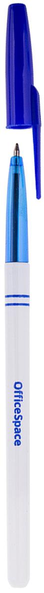 OfficeSpace Набор шариковых ручек цвет синий 50 шт2010440Набор шариковых ручек OfficeSpace из 50 штук с чернилами синего цвета. Пластиковый белый, в месте держания рукой, и полупрозрачный синий корпус без грипа. Диаметр пишущего узла 0,7 мм, толщина линии 0,35 мм.