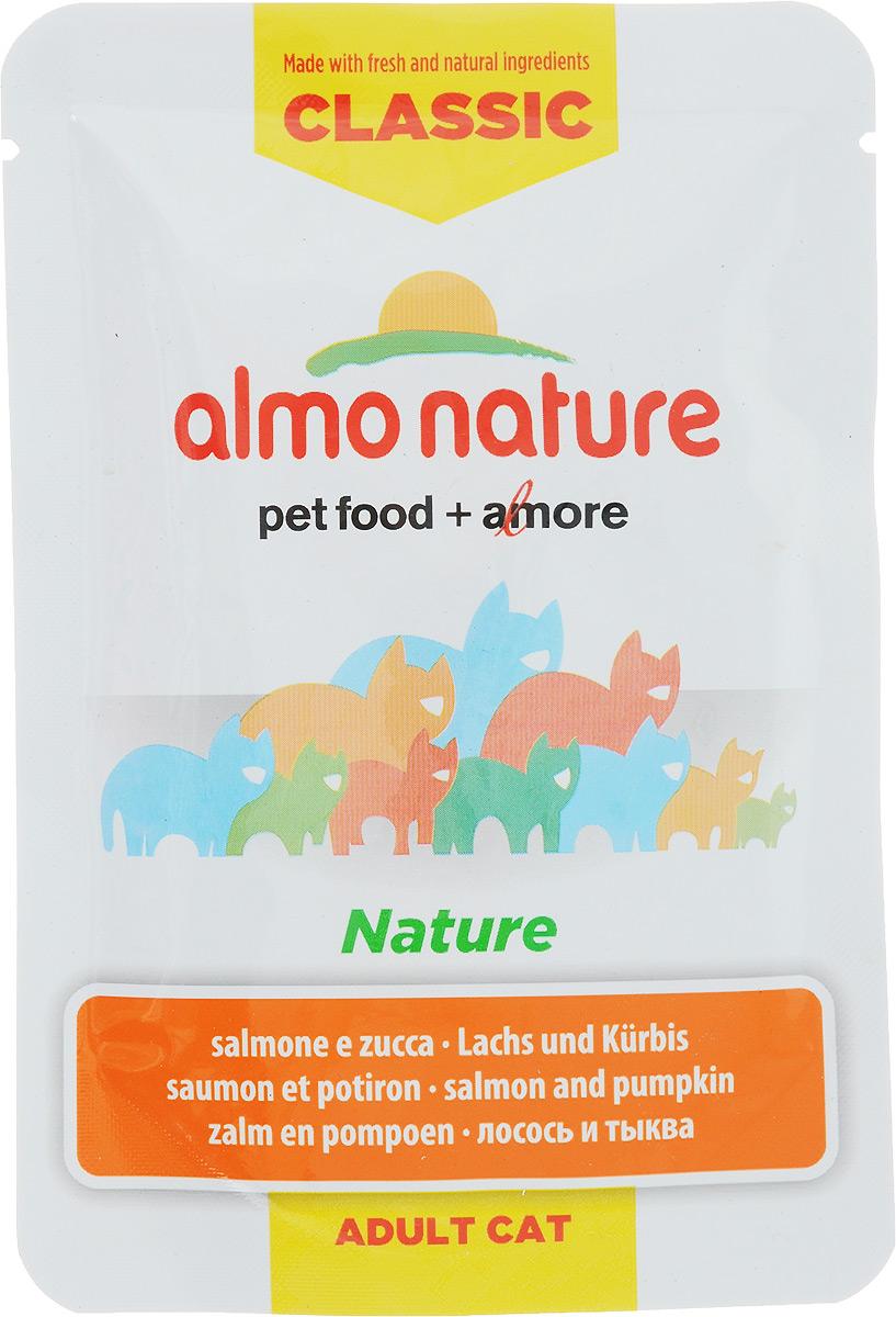 Консервы для кошек Almo Nature Classic, с лососем и тыквой, 55 г0120710Almo Nature - высококачественный консервированный корм, приготовленный по уникальной рецептуре. Корм содержит высококачественную рыбу, приготовленную в собственномбульоне с добавлением тыквы и риса. Бережная обработка продуктов без добавления химических или каких-либо других ингредиентов позволяет сохранить питательную ценность и первоначальный вкус.Особенности:- входящие в состав ингредиенты соответствуют стандарту Human Grade (качество как для людей);- превосходный аромат и восхитительный вкус;- высокая питательная ценность;- является натуральным источником воды и питательных веществ;- корм не содержит субпродукты, ГМО, антибиотиков, химических добавок, консервантов икрасителей.Состав: лосось 38%, бульон из лосося 47%, тыква 12%, рис 3%.Гарантированный анализ: Белки - 10%, Клетчатка - 0,1%, Жиры - 0,2%, Зола - 1,5%, Влажность - 87%.Калорийность - 332 ккал/кг.Товар сертифицирован.