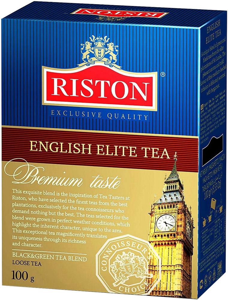Riston Элитный Английский черный листовой чай, 100 г0120710Riston Элитный Английский - уникальный купаж черного и зеленого элитного чая, выращенного на лучших плантациях Шри-Ланки. Насыщенный яркий аромат и необычайно мягкий вкус настоя средней крепости деликатно оттенен бергамотом. Стандарт FBOP.