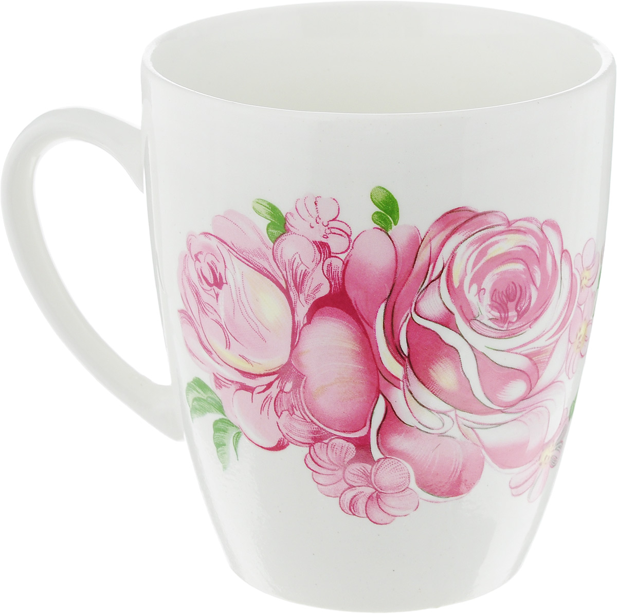Кружка Кубаньфарфор Розовые розы, 370 мл54 009312Оригинальная кружка Кубаньфарфор Розовые розы выполнена из высококачественного фаянса и оформлена изображением роз. Такая кружка станет отличным дополнением к сервировке семейного стола и замечательным подарком для ваших родных и друзей.Диаметр кружки (по верхнему краю): 8,5 см.Высота кружки: 10 см.