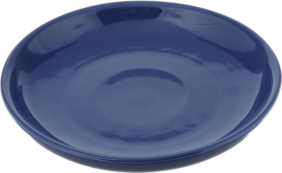 Тарелка Борисовская керамика Радуга, цвет: темно-синий, диаметр 18 см115510Тарелка Борисовская керамика Радуга выполнена из высококачественной керамики. Изделие идеально подойдет для сервировки стола и станет отличным подарком к любому празднику. Можно использовать в духовке и микроволновой печи.