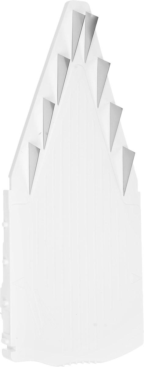 Вставка к овощерезке Borner V-Prima, цвет: белый, высота лезвий 10 мм114Сменная вставка V-Prima выполнена из пластика и металла. Вставка предназначена для нарезки на длинные или короткие брусочки, крупные кубики. При помощи изделия можно нарезать или нашинковать картофель, перец, баклажаны, морковь, яблоки, приготовить салаты. Подходит для овощерезки Borner.Размер вставки: 22,3 х 9,7 х 1,8 см.Длина лезвий: 3 см.Высота лезвий: 10 мм.