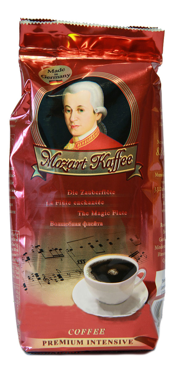 Darboven Mozart Kaffee Intensive кофе молотый, 250 г0120710Молотый кофе Mozart Kaffee Intensive неподражаем, как музыка композитора, в честь которого назван этот кофе. Композиция элитных зерен лучших плантаций мира, произведенная по традиционной технологии.