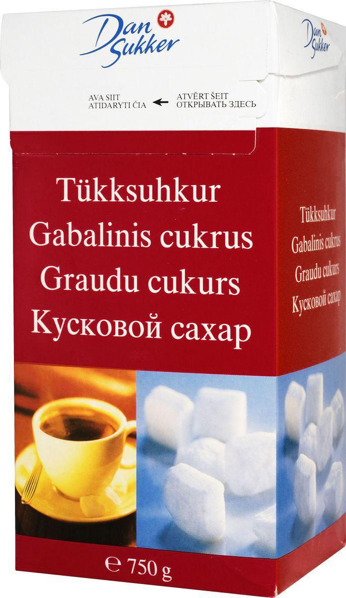 DanSukker сахар белый кусковой, 750 г0120710Быстрорастворимый кусковой сахар DanSukker получают в результате обработки белого мелкого сахара водой и последующей сушки. Частички сахара приобретают пористую структуру.Сахар быстро растворяется не только в горячей, но и в холодной воде.