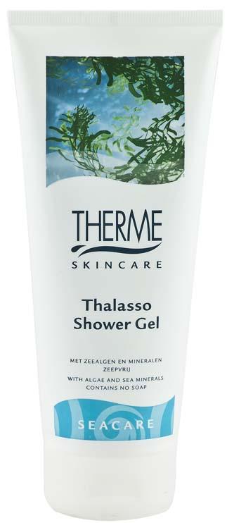 Therme Гель для душа Талассо, 200 млFS-54114Содержит ингредиенты морского происхождения-минералы и морские водоросли, как источники интенсивного питания для кожи, которые также оказывают антиоксидантное действие. pH нейтрален.