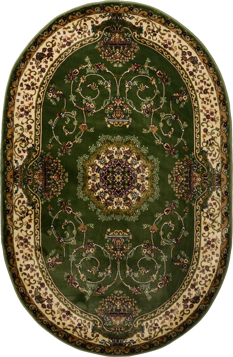 Ковер ART Carpets Арт Сапфир, овальный, 120 х 180 смPR-2WКовер ART Carpets Арт Сапфир изготовлен из вискозы (100% полипропилена). Структура волокна гладкая, поэтому грязь не будет въедаться и скапливаться на ворсе. Практичный и износоустойчивый ворс не истирается и не накапливает статическое электричество. Ковер обладает хорошими показателями теплостойкости и шумоизоляции. Оригинальный рисунок позволит гармонично оформить интерьер комнаты, гостиной или прихожей. За счет невысокого ворса ковер легко чистить. При надлежащем уходе ковер прослужит долго, не утратив ни яркости узора, ни блеска ворса, ни упругости. Самый простой способ избавить изделие от грязи - пропылесосить его с обеих сторон (лицевой и изнаночной). Хранить рекомендуется в свернутом рулоном виде.
