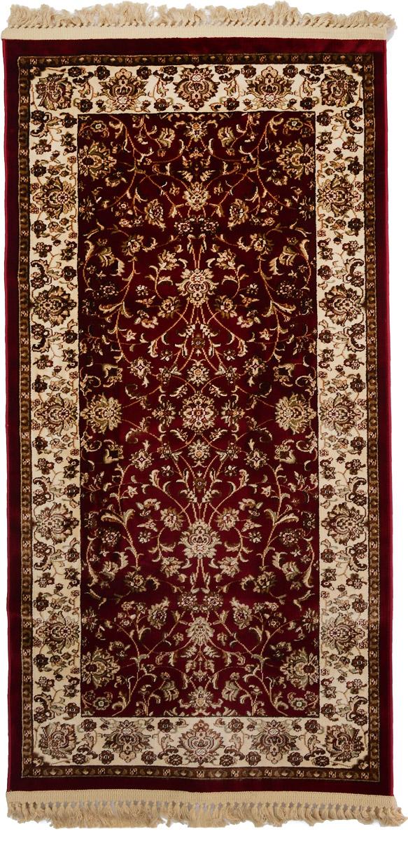Ковер Mutas Carpet Силк, прямоугольный, цвет: красный, бежевый, 80 х 150 смCLP446Ковер Mutas Carpet Силк изготовлен из прочного полипропилена. Полипропилен износостоек, нетоксичен, не впитывает влагу, не провоцирует аллергию. Структура волокна в полипропиленовых коврах гладкая, поэтому грязь не будет въедаться и скапливаться на ворсе. Практичный и износоустойчивый ворс не истирается и не накапливает статическое электричество. Ковер обладает хорошими показателями теплостойкости и шумоизоляции. Оригинальный рисунок позволит гармонично оформить интерьер комнаты, гостиной или прихожей. За счет невысокого ворса ковер легко чистить. При надлежащем уходе синтетический ковер прослужит долго, не утратив ни яркости узора, ни блеска ворса, ни упругости. Самый простой способ избавить изделие от грязи - пропылесосить его с обеих сторон (лицевой и изнаночной). Влажная уборка с применением шампуней и моющих средств не противопоказана. Хранить рекомендуется в свернутом рулоном виде.