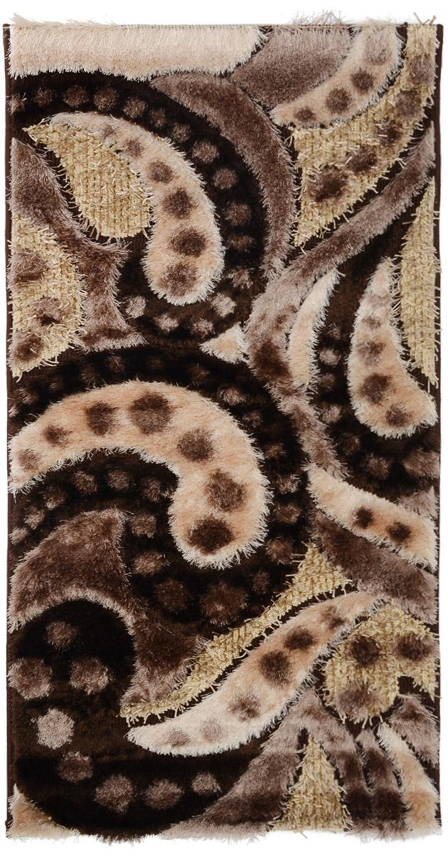 Ковер ART Carpets Art Fashion, прямоугольный, цвет: коричневый, бежевый, 80 х 150 см531-105Ковер ART Carpets Art Fashion прекрасно подойдет для любого интерьера. Изделие изготовлено из полиэстера 50%, микрофибры 30% и букле 20%. За счет прочного ворса ковер легко чистить. При надлежащем уходе синтетический ковер прослужит долго, не утратив ни яркости узора, ни блеска ворса, ни упругости. Самый простой способ избавить изделие от грязи - пропылесосить его с обеих сторон (лицевой и изнаночной). Влажная уборка с применением шампуней и моющих средств не противопоказана. Хранить рекомендуется в свернутом рулоном виде.