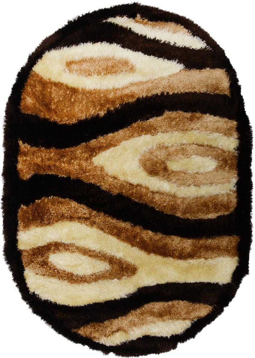 Ковер Mutas Carpet Anatolia Cotton Fashion, овальный, цвет: коричневый, темно-коричневый, бежевый, 120 х 180 см74-0060Ковер Ковер Mutas Carpet Anatolia Cotton Fashion прекрасно подойдет для любого интерьера. Изделие изготовлено из полиэстера 50%, микрофибры 30% и букле 20%. За счет прочного ворса ковер легко чистить. При надлежащем уходе синтетический ковер прослужит долго, не утратив ни яркости узора, ни блеска ворса, ни упругости. Самый простой способ избавить изделие от грязи - пропылесосить его с обеих сторон (лицевой и изнаночной). Влажная уборка с применением шампуней и моющих средств не противопоказана. Хранить рекомендуется в свернутом рулоном виде.