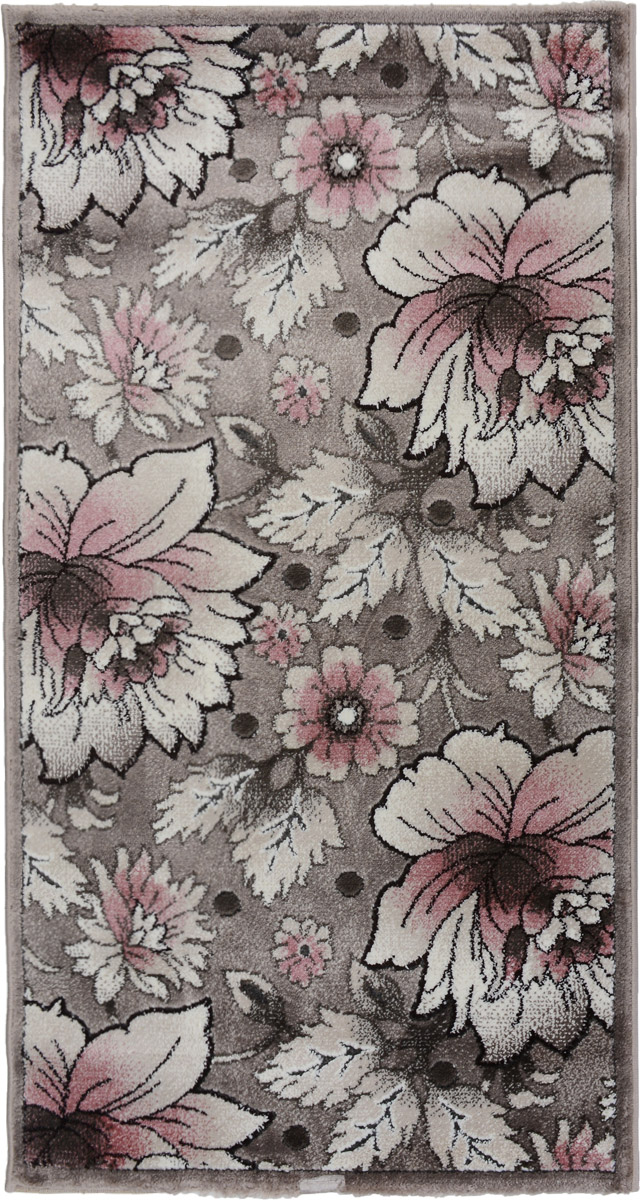 Ковер Mutas Carpet Symphony Carved, прямоугольный, цвет: розовый, серый, 80 х 150 смES-412Ковер Mutas Carpet Symphony Carved изготовлен из прочного синтетического материала heat-set, улучшенного варианта полипропилена (эта нить получается в результате его дополнительной обработки). Полипропилен износостоек, нетоксичен, не впитывает влагу, не провоцирует аллергию. Структура волокна в полипропиленовых коврах гладкая, поэтому грязь не будет въедаться и скапливаться на ворсе. Практичный и износоустойчивый ворс не истирается и не накапливает статическое электричество. Ковер обладает хорошими показателями теплостойкости и шумоизоляции. Оригинальный рисунок позволит гармонично оформить интерьер комнаты, гостиной или прихожей. За счет невысокого ворса ковер легко чистить. При надлежащем уходе синтетический ковер прослужит долго, не утратив ни яркости узора, ни блеска ворса, ни упругости. Самый простой способ избавить изделие от грязи - пропылесосить его с обеих сторон (лицевой и изнаночной). Влажная уборка с применением шампуней и моющих средств не противопоказана. Хранить рекомендуется в свернутом рулоном виде.