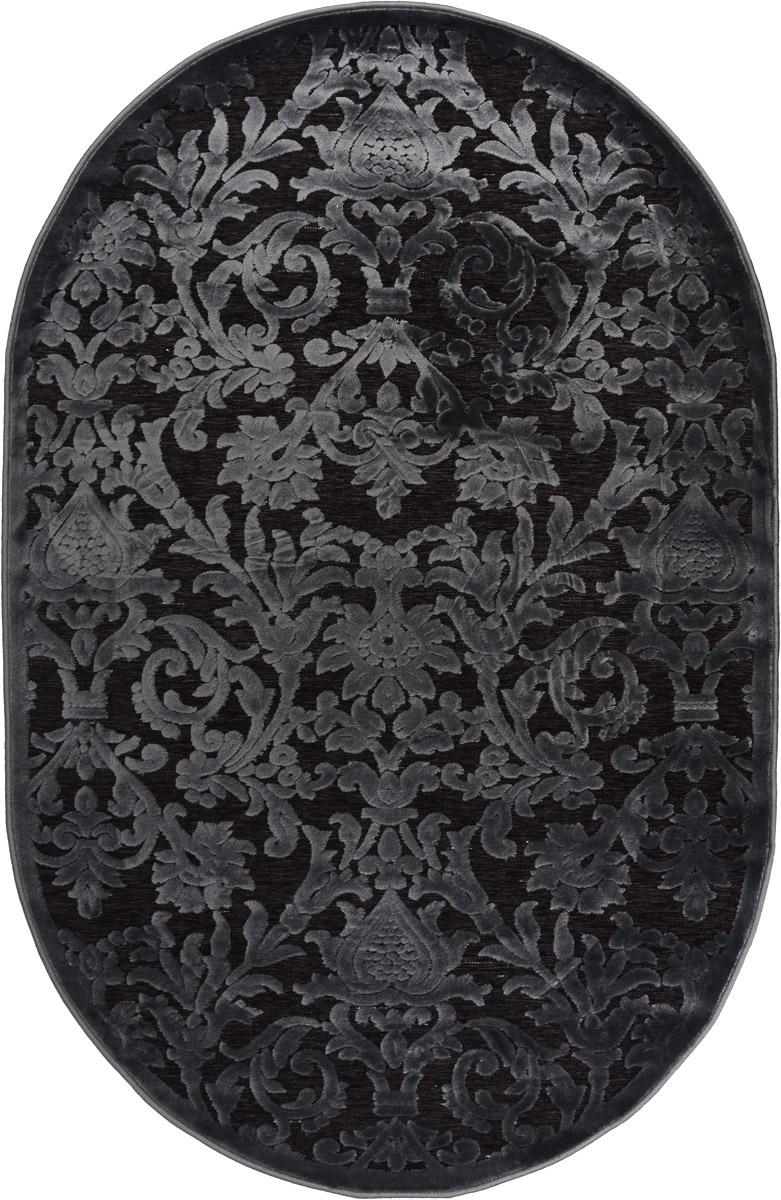 Ковер ART Carpets Платин, овальный, цвет: серо-зеленый, 120 х 180 смFS-80418Ковер ART Carpets Платин изготовлен из 100% акрила. Структура волокна гладкая, поэтому грязь не будет въедаться и скапливаться на ворсе. Практичный и износоустойчивый ворс не истирается и не накапливает статическое электричество. Ковер обладает хорошими показателями теплостойкости и шумоизоляции. Оригинальный рисунок позволит гармонично оформить интерьер комнаты, гостиной или прихожей. За счет невысокого ворса ковер легко чистить. При надлежащем уходе ковер прослужит долго, не утратив ни яркости узора, ни блеска ворса, ни упругости. Самый простой способ избавить изделие от грязи - пропылесосить его с обеих сторон (лицевой и изнаночной). Хранить рекомендуется в свернутом рулоном виде.