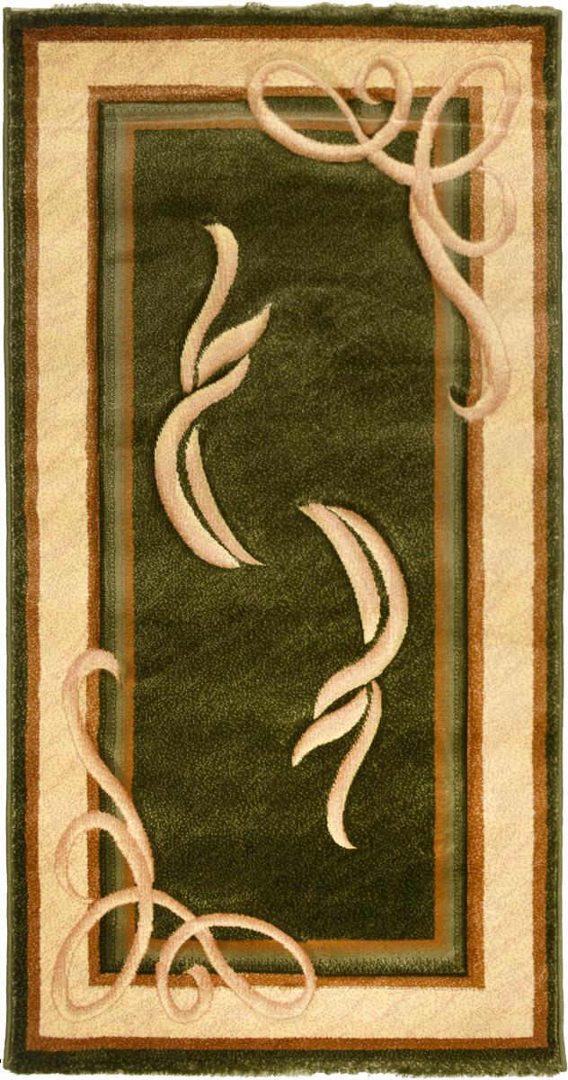 Ковер Emirhan Imperial Carving, прямоугольный, цвет: зеленый, бежевый, коричневый, 80 х 150 смStormКовер Emirhan Imperial Carving изготовлен из прочного синтетического материала heat-set, улучшенного варианта полипропилена (эта нить получается в результате его дополнительной обработки). Полипропилен износостоек, нетоксичен, не впитывает влагу, не провоцирует аллергию. Структура волокна в полипропиленовых коврах гладкая, поэтому грязь не будет въедаться и скапливаться на ворсе. Практичный и износоустойчивый ворс не истирается и не накапливает статическое электричество. Ковер обладает хорошими показателями теплостойкости и шумоизоляции. Оригинальный рисунок позволит гармонично оформить интерьер комнаты, гостиной или прихожей. За счет невысокого ворса ковер легко чистить. При надлежащем уходе синтетический ковер прослужит долго, не утратив ни яркости узора, ни блеска ворса, ни упругости. Самый простой способ избавить изделие от грязи - пропылесосить его с обеих сторон (лицевой и изнаночной). Влажная уборка с применением шампуней и моющих средств не противопоказана. Хранить рекомендуется в свернутом рулоном виде.