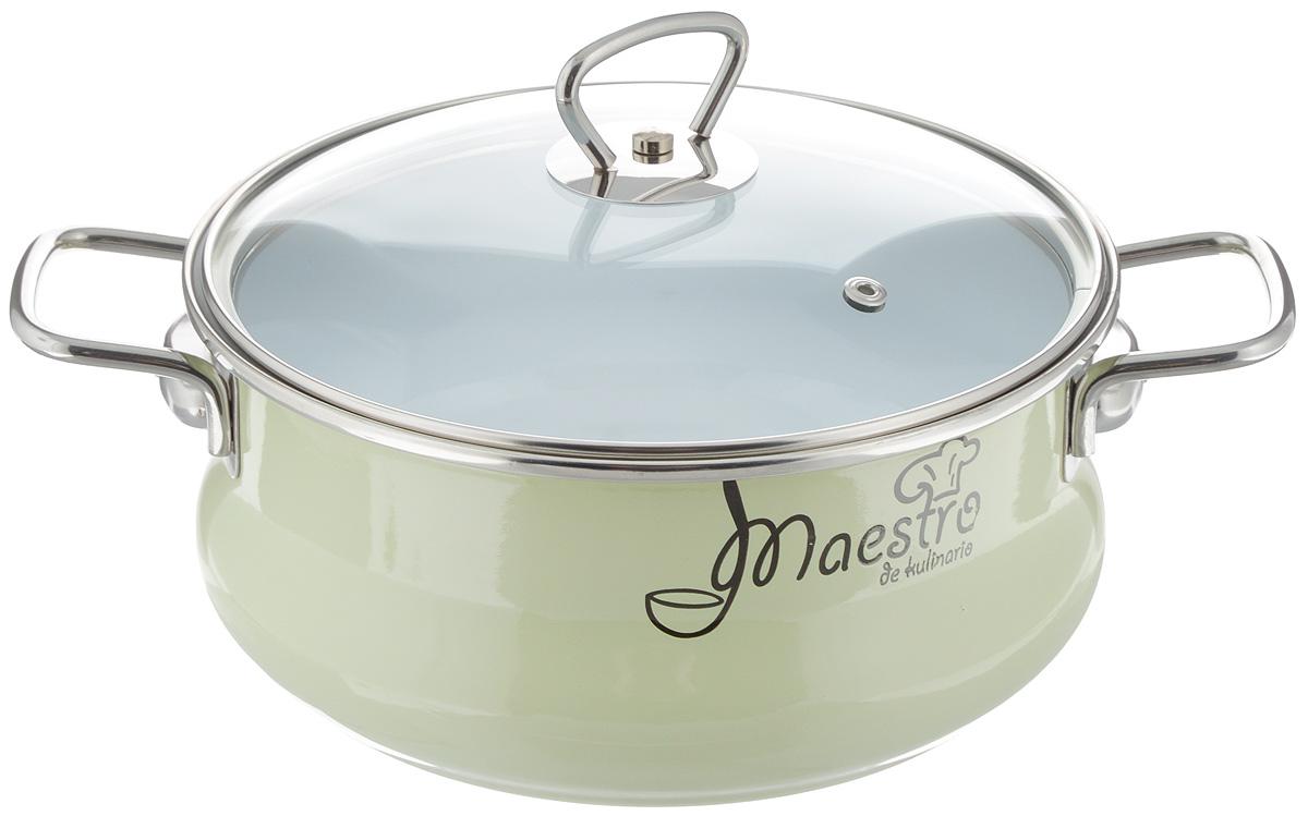 Кастрюля эмалированная Vitross Maestro с крышкой, 3,0 л. 8ST205S54 009312Кастрюля Vitross Maestro изготовлена на стальной основе со стеклокерамическим покрытием - наиболее безопасный вид посуды. Стеклокерамика инертна и устойчива к пищевым кислотам, не вступает во взаимодействие с продуктами и не искажает их вкусовые качества. Прочный стальной корпус обеспечивает эффективную тепловую обработку пищевых продуктов, не деформируется с процессе эксплуатации. Посуда Vitross идеально подходит для тепловой обработки и хранения пищевых продуктов, приготовления холодных блюд и сервировки стола. Кастрюля оснащена двумя удобными ручками из нержавеющей стали. Крышка, выполненная из термостойкого стекла, позволит вам следить за процессом приготовления пищи. Крышка плотно прилегает к краю кастрюли, предотвращая проливание жидкости и сохраняя аромат блюд.Изделие подходит для всех типов плит, включая индукционные. Можно мыть в посудомоечной машине.Это идеальный подарок для современных хозяек, которые следят за своим здоровьем и здоровьем своей семьи. Эргономичный дизайн и функциональность позволят вам наслаждаться процессом приготовления любимых, полезных для здоровья блюд.Объем: 3,0 л. Внутренний диаметр: 21,5 см. Ширина с учетом ручек: 30 см. Высота с учетом крышки: 16,5 см. Высота стенки: 9,5 см. Толщина стенки: 1,5 мм. Толщина дна: 0,5 см.
