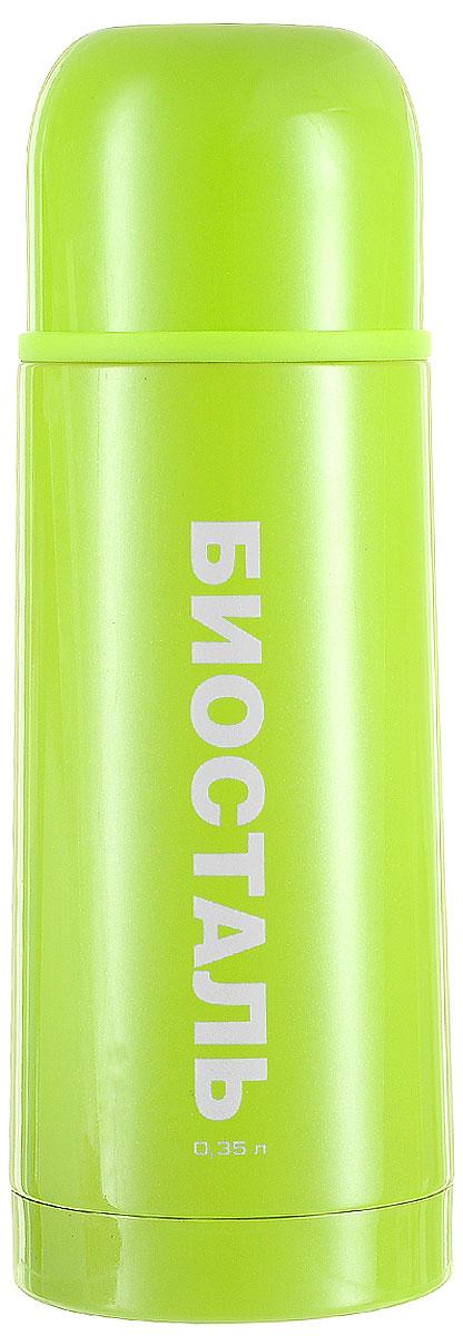 Термос Biostal Flёr, цвет: зеленый, 350 мл0003929Термос с узким горлом Biostal Flёr, изготовленный из высококачественной нержавеющей стали, покрыт износостойким лаком. Такой термос прост в использовании, экономичен и многофункционален. Термос предназначен для хранения горячих и холодных напитков (чая, кофе) и укомплектован пробкой с кнопкой. Такая пробка удобна в использовании и позволяет, не отвинчивая ее, наливать напитки после простого нажатия. Изделие также оснащено крышкой-чашкой. Легкий и прочный термос BIOSTAL сохранит ваши напитки горячими или холодными надолго.Высота (с учетом крышки): 19,5 см.Диаметр горлышка: 4,3 см.