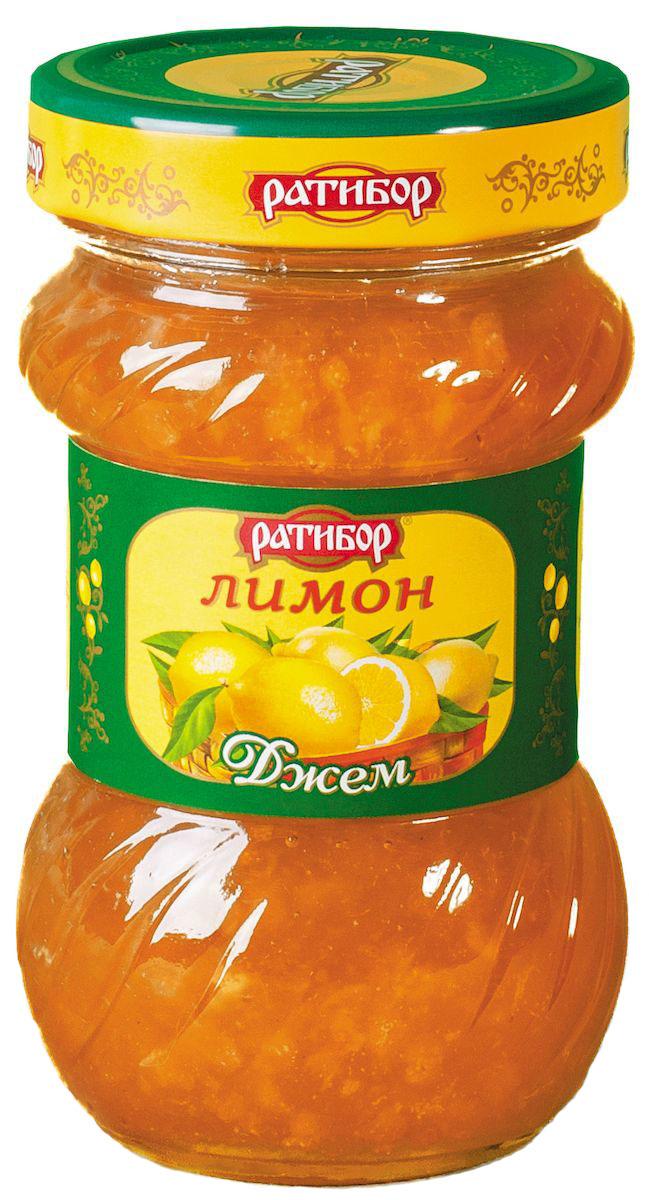 Ратибор джем Лимон, 360 гTW207Острый цитрусовый аромат напомнит вам о южных странах, где лимонный плод зреет, купаясь в потоках солнечного света. И частица теплого солнца хранится в этом джеме, изготовленном для вас компанией Ратибор.Кушайте на здоровье!