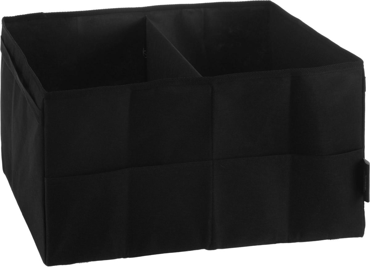 Органайзер Много Везу, складной, 50 х 34 х 28 см300151_темно-розовыйОрганайзер Много Везу предназначен хранения вещей в автомобиле. Изделие изготовлено из спанбонда (100% полипропилен). Удобный органайзер вместит в себя все, что разложено по углам багажника. Укрепленные стенки сохранят форму органайзера даже при неполной загрузке. Лента-липучка на дне обеспечивает надежное крепление к ковровому покрытию багажника и препятствует его смещению при движении автомобиля. Изделие снабжено двумя отделениями и двумя наружными карманами. Объем: 48 л. Размер в разложенном виде: 50 х 34 х 28 см.