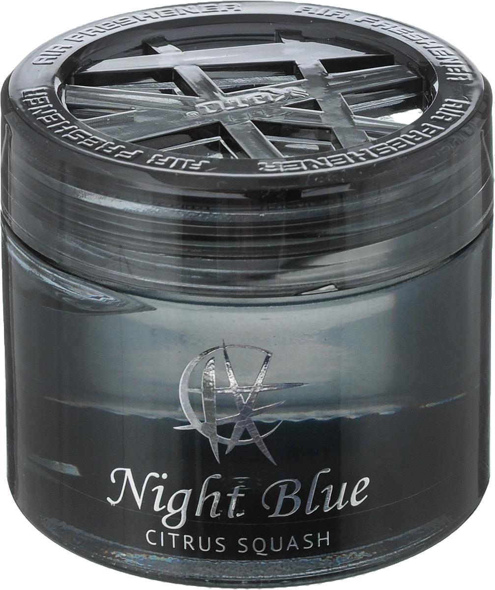 Ароматизатор автомобильный Koto Night Blue, гелевый, Citrus Squash, 65 млFDH-101Автомобильный ароматизатор Koto Night Blue эффективно устраняет неприятные запахи и придает легкий приятный аромат. Сочетание формулы геля с парфюмами наилучшего качества обеспечивает устойчивый запах. Кроме того, ароматизатор обладает элегантным дизайном, поэтому будет гармонично смотреться в салоне любого автомобиля. Благодаря удобной конструкции, его можно установить в любое место, например, на панель, под сиденье или в двери. Крепится ароматизатор с помощью двусторонней наклейки (входит в комплект). Срок эффективного действия - до 90 дней. Его можно использовать не только в автомобиле, но и в домашних условиях.Объем: 65 мл.