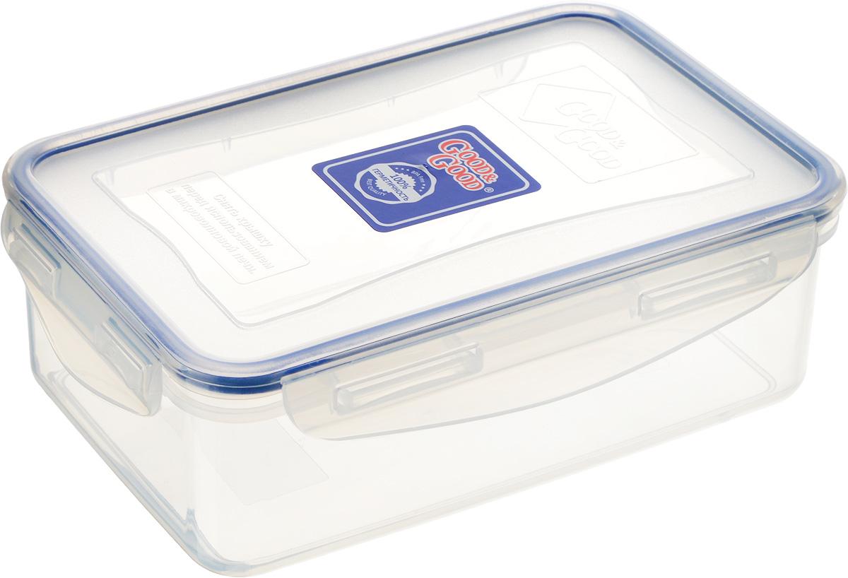 Контейнер для пищевых продуктов Good&Good, 1,1 л. 3-1FD 992Контейнер Good&Good, изготовленный из высококачественного полипропилена, предназначен для хранения любых пищевых продуктов. Крышка с силиконовой вставкой герметично защелкивается специальным механизмом. Изделие устойчиво к воздействию масел и жиров, легко моется. Контейнер имеет возможность хранения продуктов глубокой заморозки, обладает высокой прочностью. Контейнер Good&Good удобен для ежедневного использования в быту.Можно мыть в посудомоечной машине и использовать в холодильнике и микроволновой печи.Размер контейнера (с учетом крышки): 13,5 х 20 х 7 см.