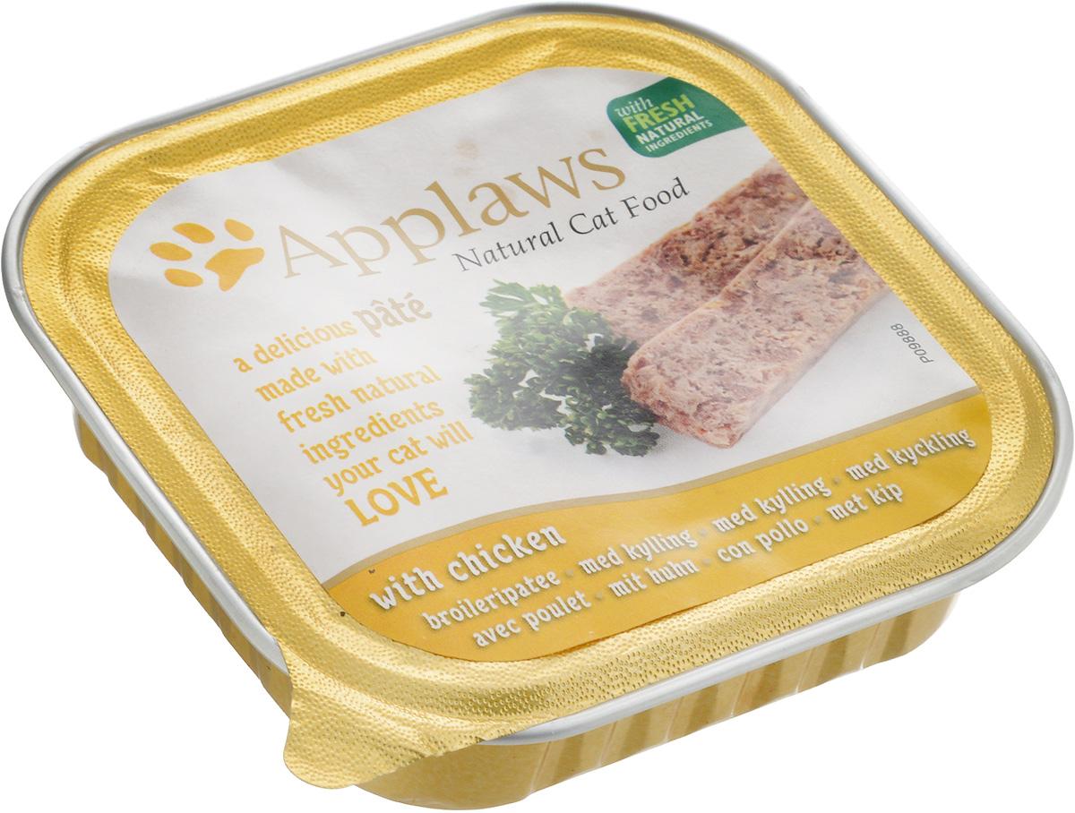 Консервы для кошек Applaws, паштет с курицей, 100 г0120710Паштет с курицей для кошек Applaws изготовлен из отборных и легко усвояемых ингредиентов. Содержит питательные и высококачественные продукты. В паштете находятся все необходимые для кошки витамины и минералы. Упаковка прекрасно сохраняет качество и вкус изделия. Товар сертифицирован.
