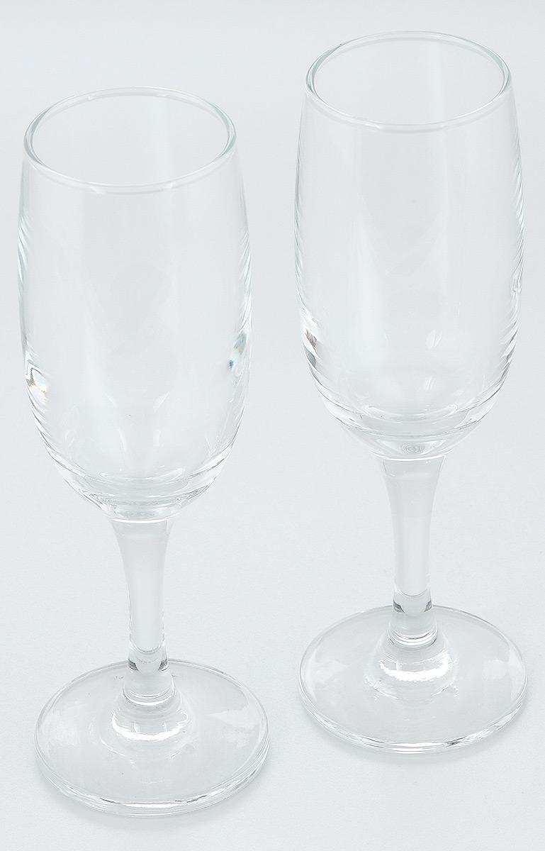 Набор бокалов Pasabahce Bistro, 190 мл, 2 штVT-1520(SR)Набор Pasabahce Bistro состоит из двух бокалов, выполненных из прочного натрий-кальций-силикатного стекла. Изделия отлично подходят для подачи игристого вина. Бокалы сочетают в себе элегантный дизайн и функциональность. Набор бокалов Pasabahce Bistro прекрасно оформит праздничный стол и создаст приятную атмосферу за ужином. Такой набор также станет хорошим подарком к любому случаю. Можно мыть в посудомоечной машине.Диаметр бокала (по верхнему краю): 5 см. Высота бокала: 19 см.