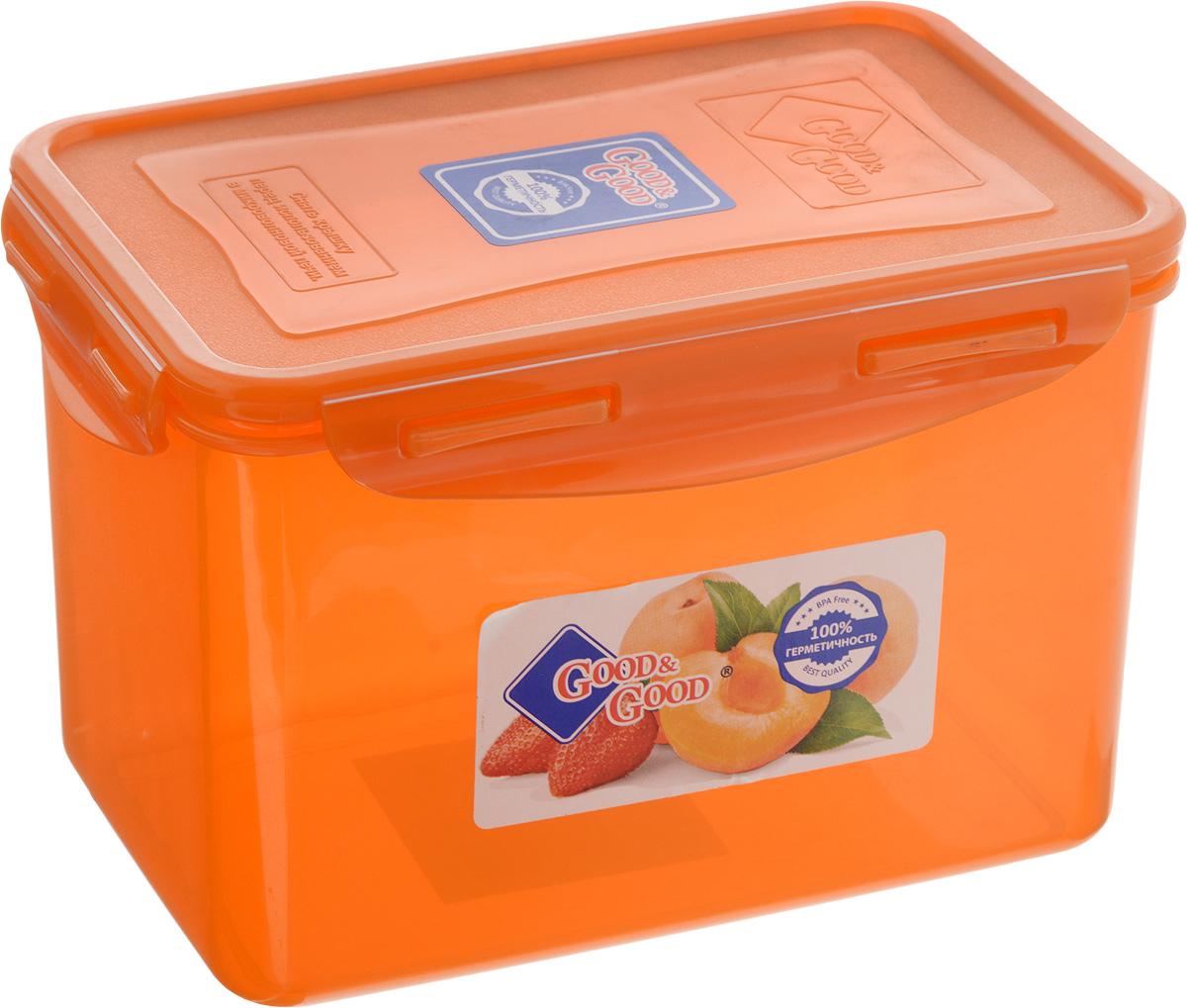 Контейнер для пищевых продуктов Good&Good, 2,2 лVT-1520(SR)Контейнер Good&Good, изготовленный из высококачественного полипропилена, предназначен для хранения любых пищевых продуктов. Крышка с силиконовой вставкой герметично защелкивается специальным механизмом. Изделие устойчиво к воздействию масел и жиров, легко моется. Полупрозрачные стенки позволяют видеть содержимое. Контейнер имеет возможность хранения продуктов глубокой заморозки, обладает высокой прочностью. Контейнер Good&Good удобен для ежедневного использования в быту.Можно мыть в посудомоечной машине и использовать в холодильнике и микроволновой печи.Размер контейнера (с учетом крышки): 13,5 х 20 х 13 см.
