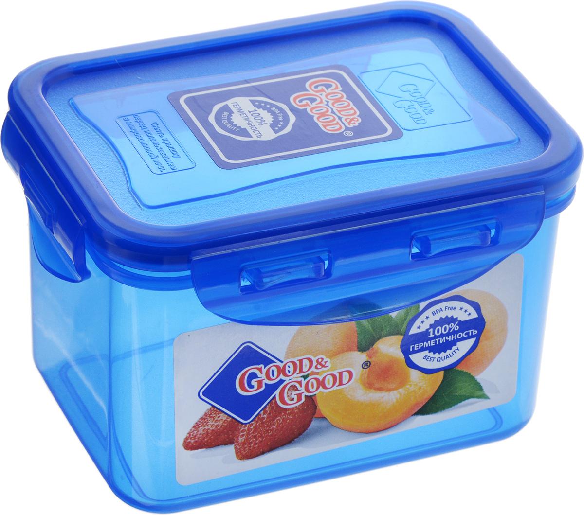 Контейнер пищевой Good&Good, цвет: синий, 630 млVT-1520(SR)Прямоугольный контейнер Good&Good изготовлен из высококачественного полипропилена и предназначен для хранения любых пищевых продуктов. Благодаря особым технологиям изготовления, лотки в течение времени службы не меняют цвет и не пропитываются запахами. Крышка с силиконовой вставкой герметично защелкивается специальным механизмом. Контейнер Good&Good удобен для ежедневного использования в быту.Можно мыть в посудомоечной машине и использовать в микроволновой печи.Размер контейнера (с учетом крышки): 13 х 10 х 8,5 см.