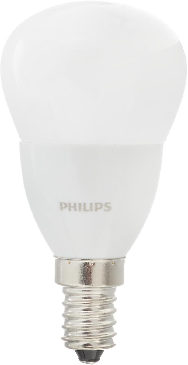 Лампа светодиодная Philips CorePro LEDluster, цоколь E14, 5,5W, 4000KCorePro lustre ND 5.5-40W E14 840 P45 FRСовременные светодиодные лампы CorePro LEDluster экономичны, имеют долгий срок службы и мгновенно загораются, заполняя комнату светом. Лампа классической формы и высокой яркости позволяет создать уютную и приятную обстановку в любой комнате вашего дома.Светодиодные лампы потребляют на 90 % меньше электроэнергии, чем обычные лампы накаливания, излучая при этом привычный и приятный свет. Срок службы светодиодной лампы CorePro LEDluster составляет до 15 000 часов, что соответствует общему сроку службы пятнадцати ламп накаливания. Благодаря чему менять лампы приходится значительно реже, что сокращает количество отходов.Напряжение: 220-240 В. Световой поток: 520 lm.Эквивалент мощности в ваттах: 40 Вт.