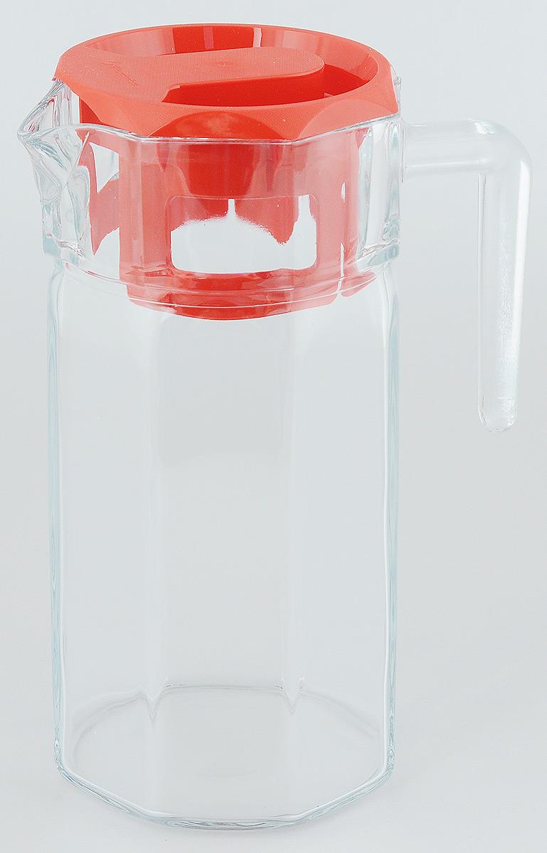 Кувшин Pasabahce Kosem, с крышкой, 1250 мл43414BКувшин Pasabahce Kosem, выполненный из прочного натрий-кальций-силикатного стекла, элегантно украсит ваш стол. Такой кувшин прекрасно подойдет для подачи воды, сока, компота и других напитков. Кувшин плотно закрывается пластиковой крышкой. Крышка устроена таким образом, что выливать жидкость можно не снимая ее, так как напиток будет проходить через специальную выемку. Совершенные формы и изящный дизайн, несомненно, придутся по душе любителям классического стиля. Кувшин Pasabahce Kosem дополнит интерьер вашей кухни и станет замечательным подарком к любому празднику.Можно мыть в посудомоечной машине. Размер кувшина по верхнему краю (без учета носика): 11 х 10,5 см.Высота кувшина (без учета крышки): 22 см.
