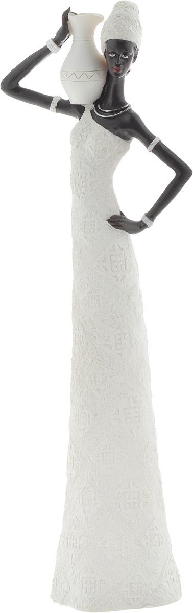 """Фигурка декоративная Феникс-Презент """"Ашанти"""", цвет: белый, черный, высота 33 см"""