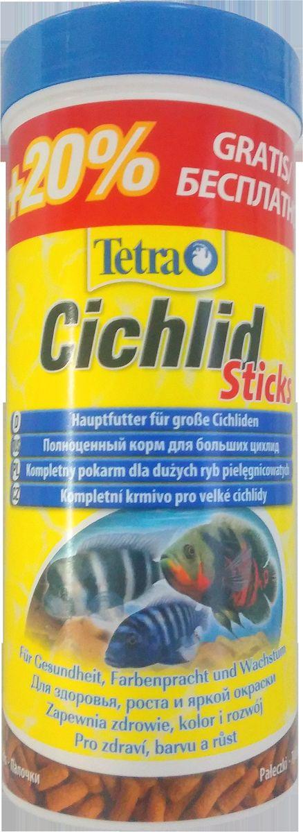 Корм Tetra Cichlid Sticks, для всех видов цихлид, палочки, 300 мл157170ATetraCichlid Sticks – основной корм в виде палочек для всех видов цихловых и других крупных декоративных рыб.Палочки плавают на поверхности воды и благодаря своей форме принимают вид естественного природного корма крупных рыб. Состав корма полностью соответствует потребностям организма цихлид в потреблении протеинов и специальных аминокислот. Усиливает натуральную окраску, жизненную энергию рыб и сопротивляемость болезням.