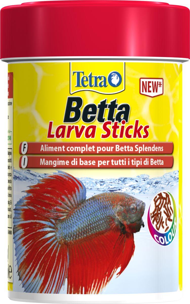 Корм Tetra Betta Larva Sticks, для петушков и других лабиринтовых рыб, в форме мотыля, 100 мл0120710Betta Larva Sticks – это прекрасный мимикрический корм для петушков и других лабиринтовых рыб. Форма, размер и цвет имитируют настоящего мотыля для наиболее подходящего кормления петушков. Это палочки удобного размера, плавающие по поверхности воды. Помимо высококачественных ингредиентов поедаемость обеспечивает также движение по поверхности воды. Дополнительные преимущества Betta Larva Sticks:Сбалансированное кормление на каждый день;Хорошая усвояемость для меньшего загрязнения воды;Креветки как компонент, улучшающий поедаемость;Запатентованная формула Patented BioActive для оптимального здоровья;Точное содержание необходимых витаминов и питательных веществ поддерживает иммунную систему рыбок;Минералы, включая микроэлементы, как необходимые питательные веществаВысокое содержание белка и омега-3 жирных кислот для энергии и ростаСодержит каротиноиды для усиления естественной окраски сиамских бойцовых рыб.