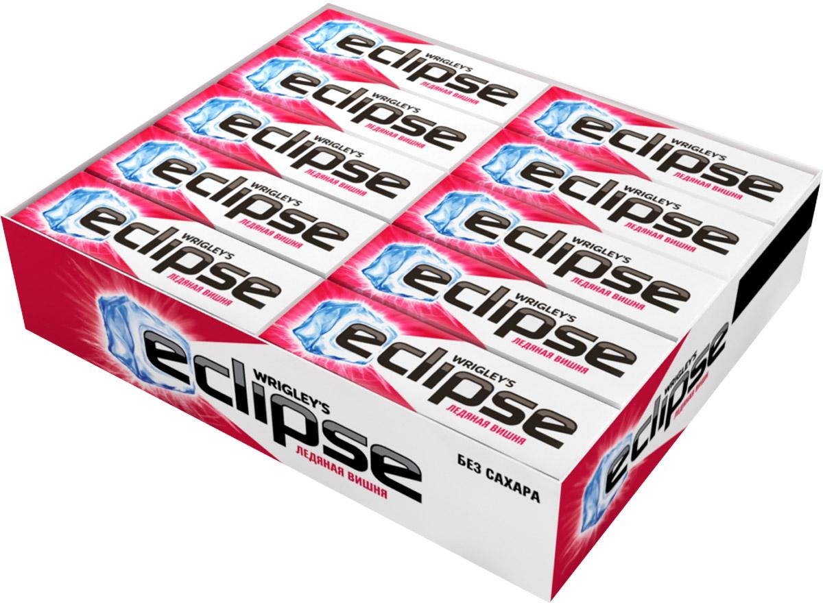 Eclipse Ледяная вишня жевательная резинка без сахара, 30 пачек по 13,6 г0120710Попробуйте по-настоящему ледяную свежесть. Жевательная резинка Eclipse Ледяная вишня освежает дыхание и придает уверенности в общении.Уверены в дыхании - уверены в себе!Уважаемые клиенты! Обращаем ваше внимание, что полный перечень состава продукта представлен на дополнительном изображении.