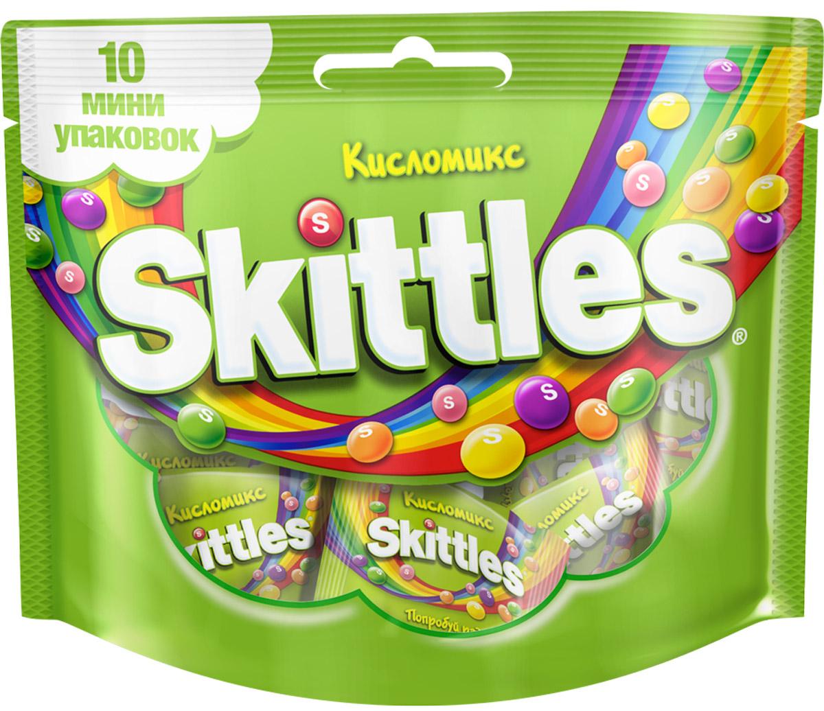Skittles Кисломикс драже в сахарной глазури, 10 пачек по 12 г0120710Драже Skittles c разноцветной глазурью предлагают радугу кислых фруктовых вкусов. В каждой упаковке драже с ароматами малины, ананаса, мандарина, вишни и яблока. Заразитесь радугой, попробуйте радугу!Уважаемые клиенты! Обращаем ваше внимание, что полный перечень состава продукта представлен на дополнительном изображении.