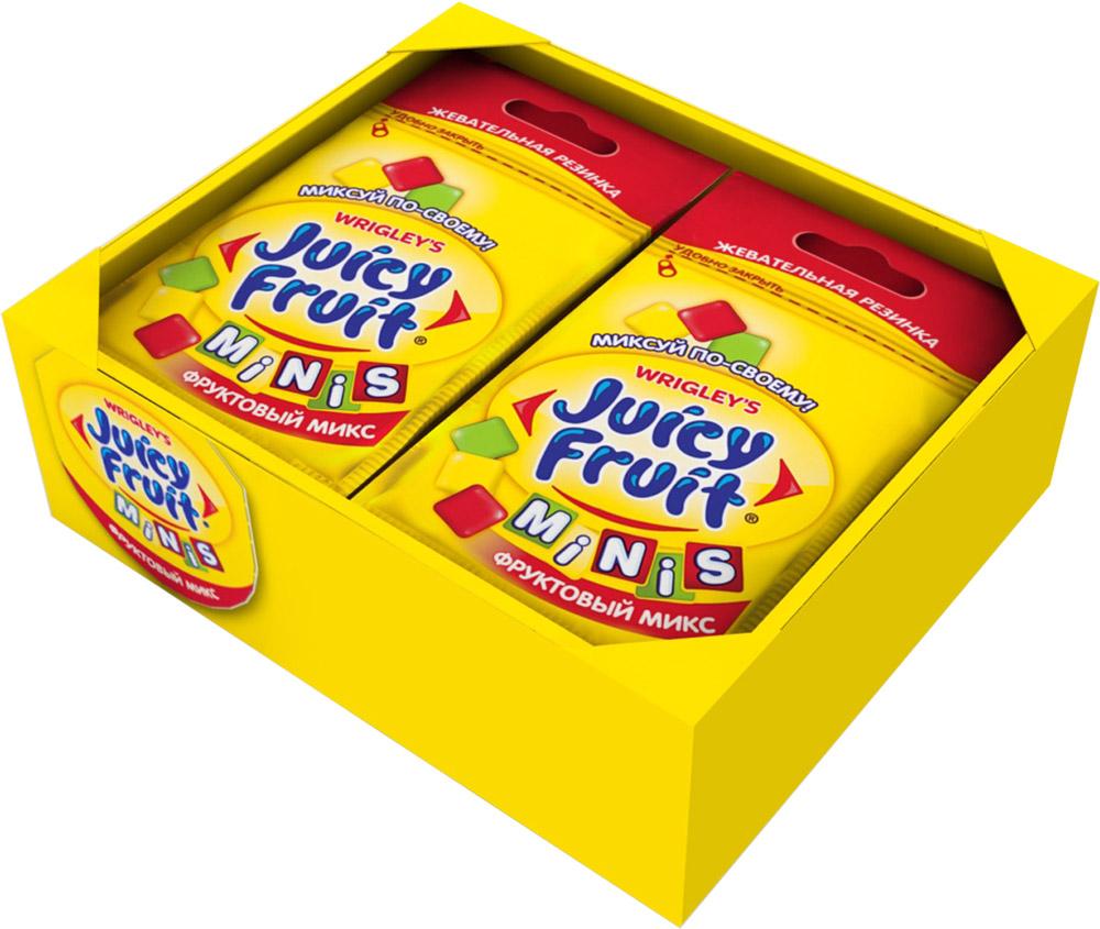 Juicy Fruit Minis Фруктовый микс жевательная резинка, 14 пачек по 15,9 г0120710Фруктовый микс вкусов: классический фруктовый, яблоко и клубника.Инновационный продукт - первая жевательная резинка с тремя разными вкусами в одной пачке. У вас появилась возможность миксовать вкусы, создавая свой собственный неповторимый Juicy Fruit!